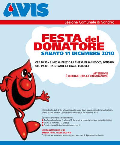 Festa del Donatore dell'AVIS Sondrio 11 dicembre 2010
